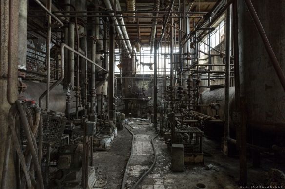 dark basement grimy industrial Usine S Belgium Textile Wool Factory Urbex Adam X Urban Exploration Access 2016 Abandoned decay lost forgotten derelict