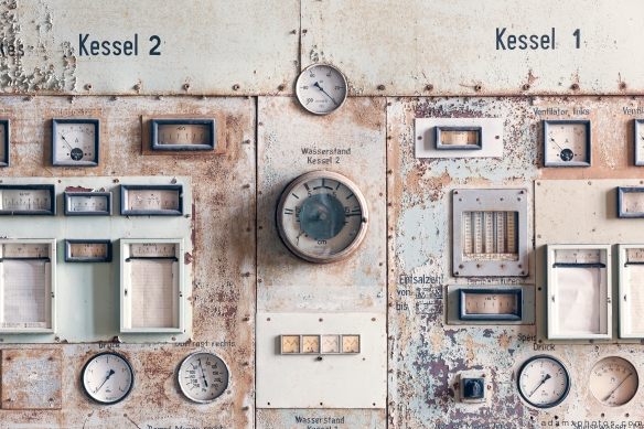 Kessel Boiler controls detail Kraftwerk Plessa Urbex Powerplant Germany Adam X Urban Exploration Access 2016 Abandoned decay lost forgotten derelict location