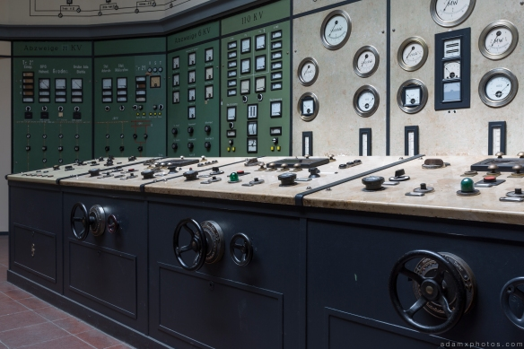 Controls Retro Vintage Green Control Room Art Deco Kraftwerk Plessa Urbex Powerplant Germany Adam X Urban Exploration Access 2016 Abandoned decay lost forgotten derelict location