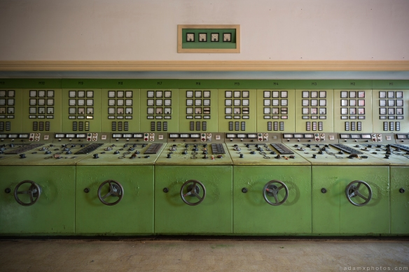 Controls Kraftwerk V Urbex Powerplant Germany Adam X Urban Exploration Access 2016 Abandoned decay lost forgotten derelict location Deutschland