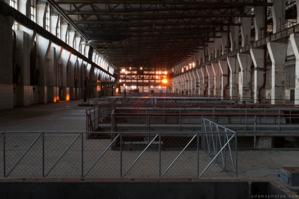 Turbine Hall sunset Kraftwerk V Urbex Powerplant Germany Adam X Urban Exploration Access 2016 Abandoned decay lost forgotten derelict location Deutschland