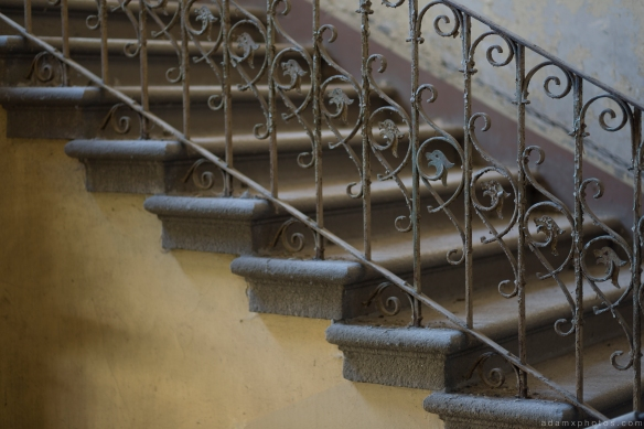 Stairs wrought iron Villa Guano Villa Miley Urbex Germany Adam X Urban Exploration Access 2016 Abandoned decay lost forgotten derelict location Deutschland