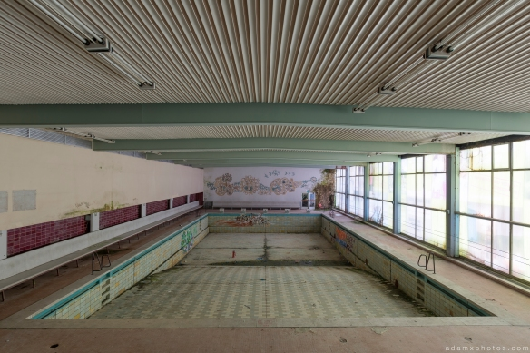 Swimming pool Grand Hotel Atlantis Urbex Germany Adam X Urban Exploration Access 2016 Abandoned decay lost forgotten derelict location Deutschland