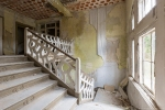 Staircase bannisters peeling paint Ferienhotel Sachsenhof Hotel Ski Alpine Urbex Germany Adam X Urban Exploration Access 2016 Abandoned decay lost forgotten derelict location Deutschland Mould