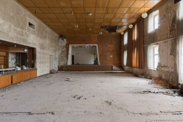 Upstairs small stage Ballhaus K Ballroom Urbex Germany Adam X Urban Exploration Access 2016 Abandoned decay lost forgotten derelict location Deutschland